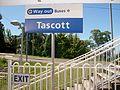 Tascott station sign.jpg