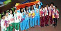 Team India won Gold medal, Sri Lanka won Silver and Pakistan won Bronze Medal in the Women's swimming 4x200M Freestyle category, at the 12th South Asian Games-2016, in Guwahati on February 09, 2016.jpg