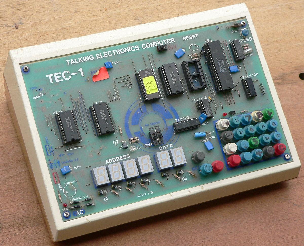 Tec 1 Wikipedia The Is Main Circuit Board Of Computer