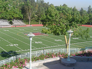 Studio City, Los Angeles - Athletic field at Upper Campus, Harvard-Westlake School