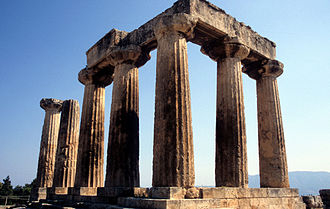 Hellenistic religion - Remains of the temple of Apollo at Corinth.