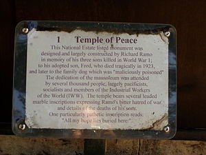 Temple of Peace (Toowong Cemetery) - Image: Temple Of Peace 5