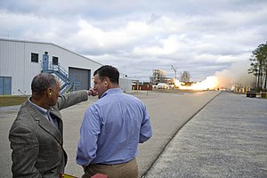 NK-33 - Image: Test Firing the First Aerojet AJ26 Engine