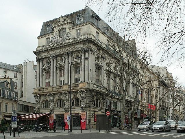 Th tre de la renaissance teatro e opera parigi francia for Parigi non turistica