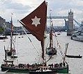 Thames barge parade - downstream - Kitty 6786c.JPG