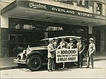 The 100,000th Willys-Overland exported car, outside Overland Sydney Ltd office, 1920 - 1929 (4361743370).jpg