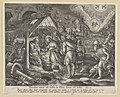 The Adoration of the Shepherds print by Stradanus, S.I 832, Prints Department, Royal Library of Belgium.jpg