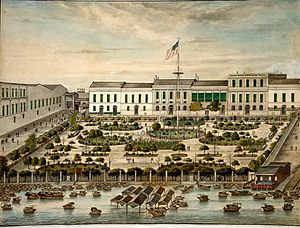 Taiwan–United States relations - The American Garden at the Thirteen Factories in Canton, 1844–45
