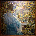 The Bird Cage by Frederick Carl Frieseke, c. 1910, oil on canvas - New Britain Museum of American Art - DSC09510.JPG