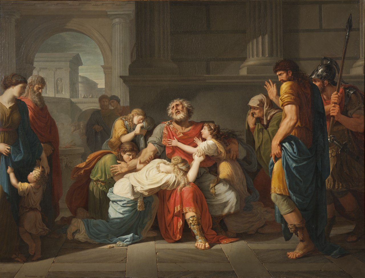 The Blind Oedipus Commending his Children to the Gods (Bénigne Gagneraux) - Nationalmuseum - 17831.tif
