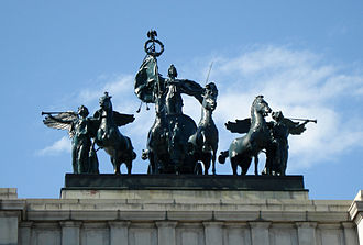 Soldiers' and Sailors' Arch - Crowning sculpture
