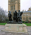 The Burghers Of Calais Statue, Westminster - London..jpg