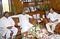 The Chief Minister of Karnataka, Shri Siddaramaiah meeting the Union Minister for Railways, Shri D.V. Sadananda Gowda, in New Delhi on June 04, 2014.jpg