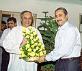 The Chief Minister of Orissa Shri Navin Patnaik calls on the Union Minister for Health and Family Welfare Dr. Anbumani Ramadoss, in New Delhi on August 30, 2005.jpg