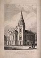 The Church at the Charterhouse, London; Etching by G. Adcock Wellcome V0013042.jpg