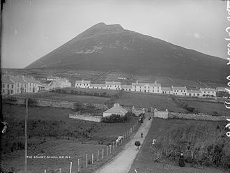 "Achill Island - View of the ""Colony"", prior to 1900."