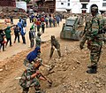 The Engineer Task Force of the Indian Army engaged in rescue operation at General Area Basantpur, in Nepal on on May 03, 2015, following a recent massive earthquake in Nepal.jpg