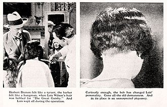 The Great Gatsby (1926 film) - Image: The Great Gatsby 1926 Photoplay Collage Lois Wilson Hair Bob