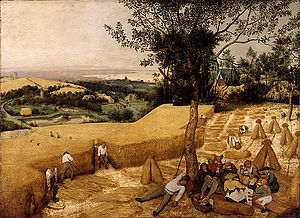 The Harvesters by Brueghel