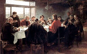 Last Supper - The Last Supper by Fritz von Uhde (1886)