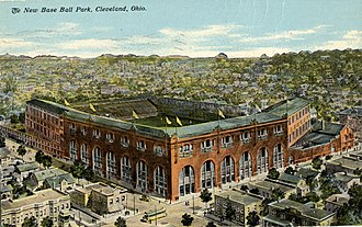 League Park - Postcard of League Park