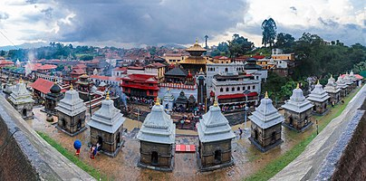 Fisheye view of en:Pashupatinath Temple UNESCO World Heritage Sites's list Since 1979.