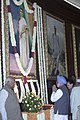 The Prime Minister, Dr. Manmohan Singh paying tributes to Smt Indira Gandhi on her 88th birth anniversary at Parliament House, in New Delhi on November 19, 2005.jpg