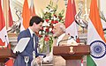 The Prime Minister, Shri Narendra Modi and the Prime Minister of Canada, Mr. Justin Trudeau, during the Joint Press Statement, at Hyderabad House, in New Delhi on February 23, 2018 (1).jpg