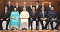 The Prime Minister, Shri Narendra Modi and the Prime Minister of Japan, Mr. Shinzo Abe with the participants of the India-Japan Business Leaders Forum, in New Delhi on December 12, 2015 (2).jpg