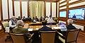 The Prime Minister, Shri Narendra Modi chairing 23rd interaction through PRAGATI - the ICT-based, multi-modal platform for Pro-Active Governance and Timely Implementation, in New Delhi on November 22, 2017.jpg