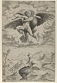 The Rape of Ganymede by Jupiter in the guise of an eagle carrying him into the heavens, his dog barking below MET DP844289.jpg