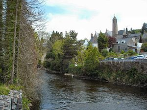 River Eske - River Eske flowing through Donegal Town.