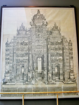 Triumphal Arch (woodcut) - On display at the British Museum