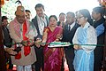 The Union Minister for Tribal Affairs, Shri Jual Oram inaugurating the 50 bedded Scheduled Tribe boys hostel at the Sikkim Government College, at Tadong, in Gangtok.jpg
