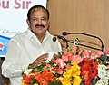The Vice President, Shri M. Venkaiah Naidu addressing the Scientists of the Indian National Centre for Ocean Information Services (INCOIS) and the National Tsunami Warning Centre, in Hyderabad on July 13, 2018.JPG