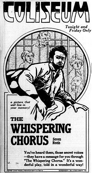 The Whispering Chorus - Newspaper advertisement