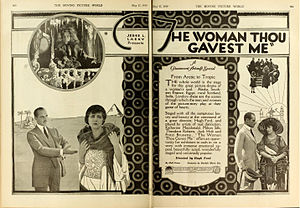 Hugh Ford (director) - Advertisement (1919)