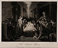 The adoration of the shepherds at the birth of Christ. Aquat Wellcome V0034625.jpg