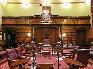 New South Wales Legislative Council - Image: The legislative council chamber of NSW