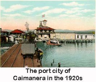 Caimanera - Image: The port city of Caimanera in the 1920s