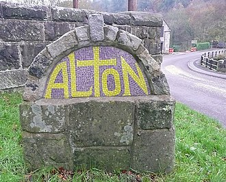 Alton, Staffordshire - Image: The village sign, Alton geograph.org.uk 1600803
