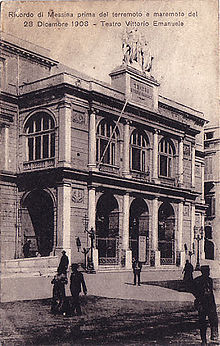 Teatro della Munizione, Messina (as known in the early 19th century) (Source: Wikimedia)