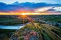 Theodore Roosevelt National Park and sun.jpg