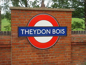 Typeface - London Underground's Johnston typeface, printed on a large sign