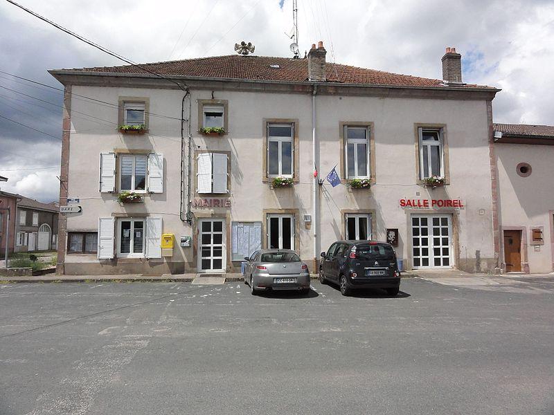 Thiaville-sur-Meurthe (M-et-M) mairie et salle Poirel
