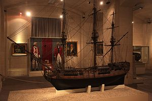 Third-rate - A model of a third-rate ship of the line of the Navy of the Order of Saint John from the late 18th century.