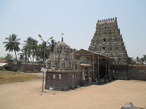 Meykandar - The Sivan kovil at Thiruvennainallur, the living place of Meykandar.