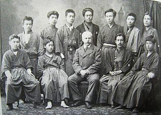 Thomas Corwin Mendenhall - Image: Thomas C Mendenhallwith Students Japan 1880
