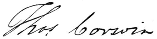 Thomas Corwin's signature