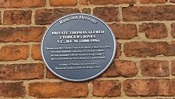Thomas jones vc plaque